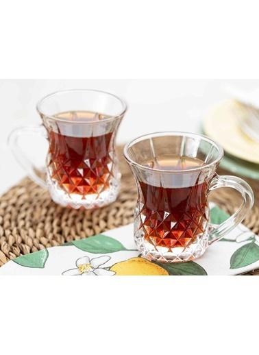 Madame Coco Florus 4'lü Çay Fincanı Renkli